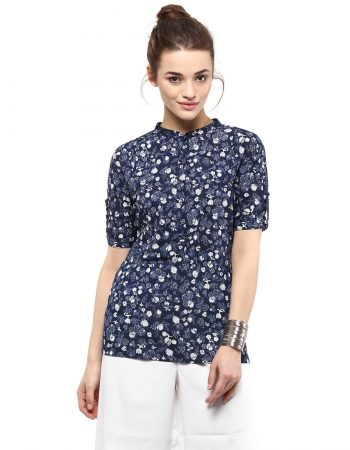 Buy Floral Blue Top at Best Price in India