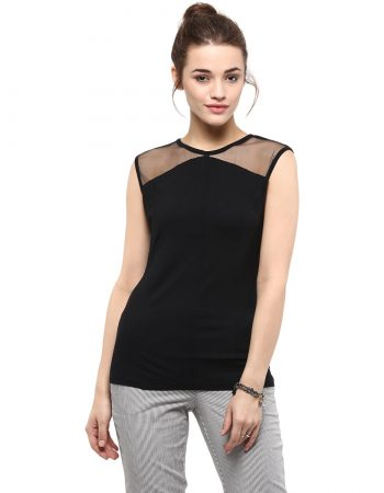 Buy Front Pintuck Black Top at Best Price
