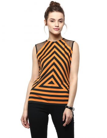Buy Front Mesh With Stripe Play Top