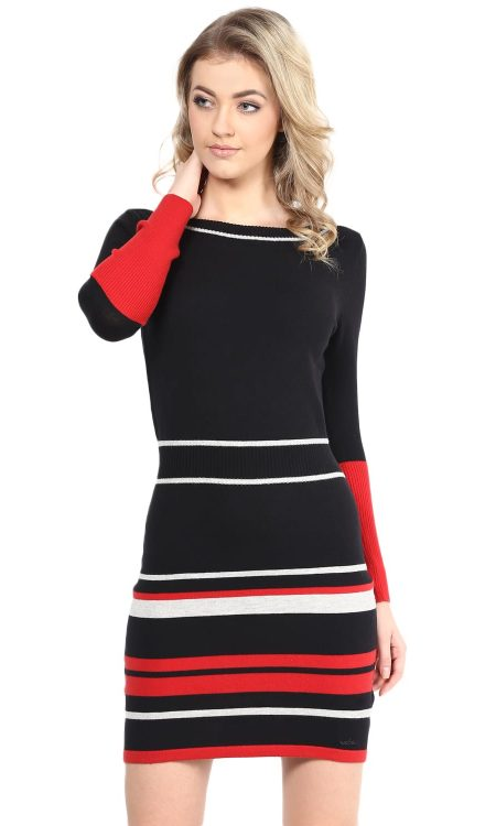 Buy Red Boat Neck Sweater