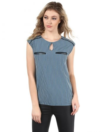 Buy Affordable Blue Vortex Terry Top in India