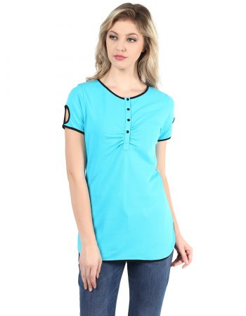 Buy Pique Fashion Turquoise Top at Best Price