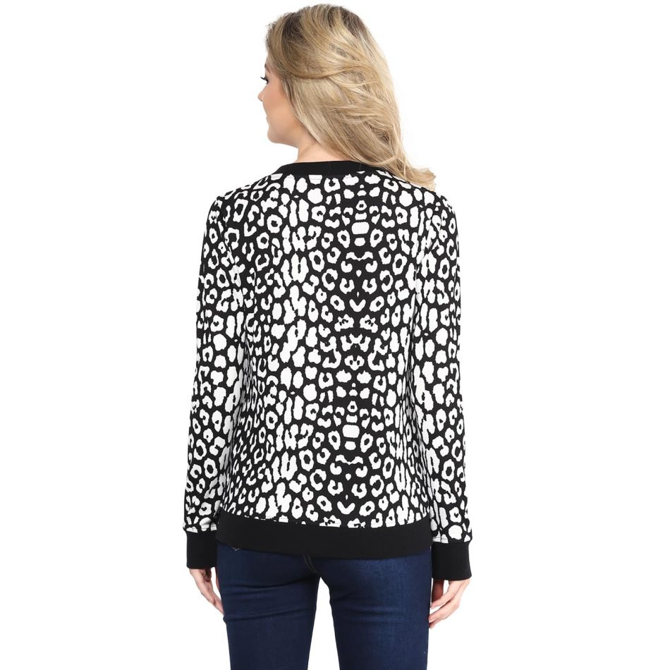 Black color animal print sweatshirt Online in Noida