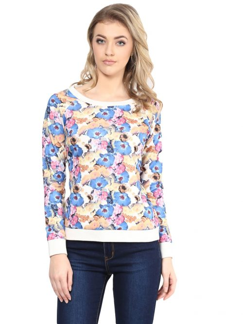 Buy Blue Floral Sweatshirts