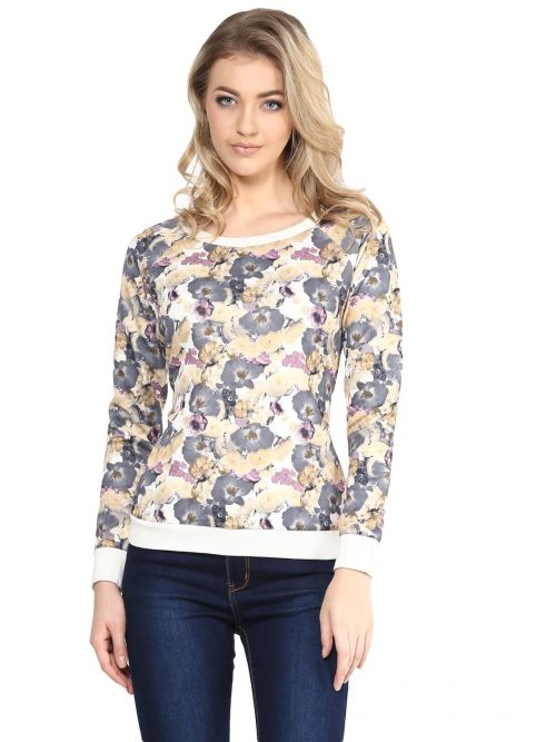 Buy Green Floral Sweatshirts
