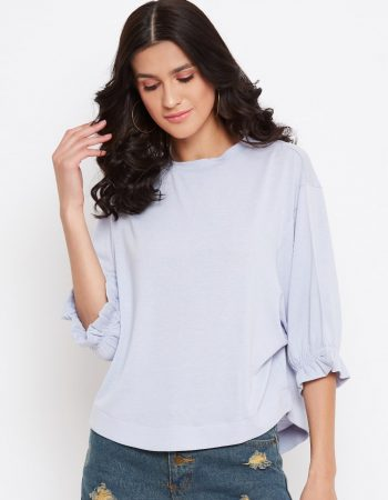 Buy Baby Blue Bamboo Shimmer Dolman Top