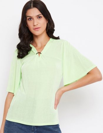 Lemon Yellow Color Embedded Top
