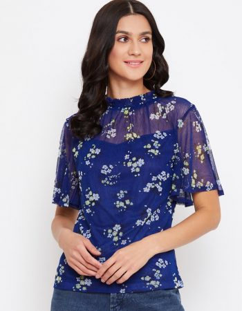 Shop for smocking blue tops in India
